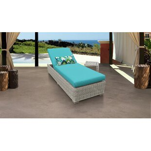 Coast Reclining Chaise Lounge with Cushion and Table