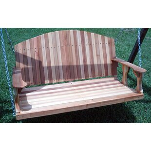 Church Street Cedar Back Porch Swing by Rosecliff Heights