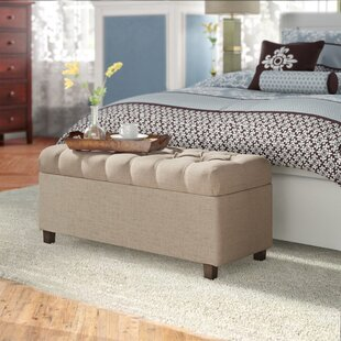 Three Posts Ranshaw Button Tufted Upholstered Storage Bench