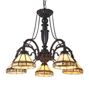 Astoria Grand Quattlebaum 5-Light Shaded Chandelier