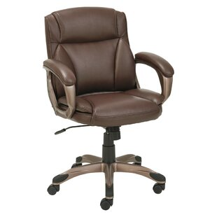 Latitude Run Kraemer Low-Back Ergonomic Genuine Leather Executive Chair