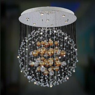 Velaquez 7-Light Cluster Pendant by Allegri by Kalco Lighting