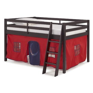Zoomie Kids Gladwin Traditional Twin Low Loft Bed with Tent