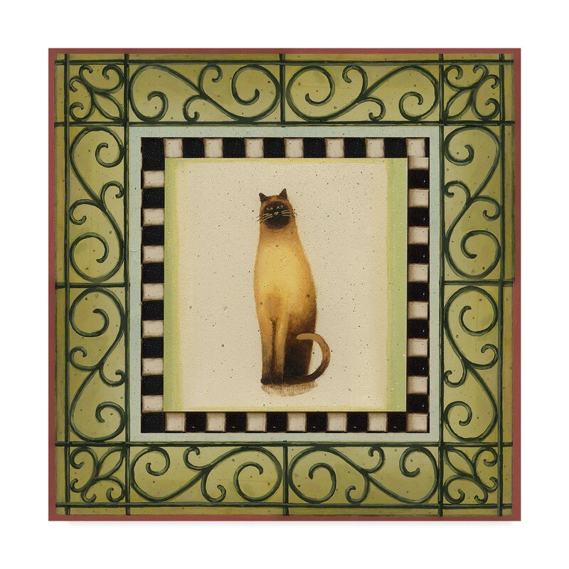 East Urban Home Cat In Frame 1 Acrylic Painting Print On Wrapped Canvas Wayfair