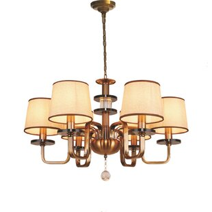 Nyquist 6-Light Shaded Chandelier by Charlton Home