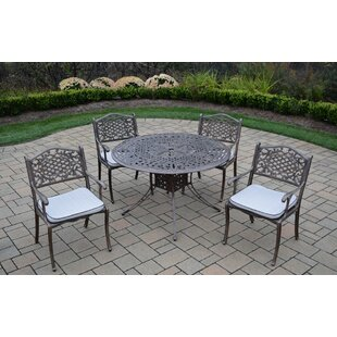 Oakland Living Capitol 5 Piece Dining Set with Cushions