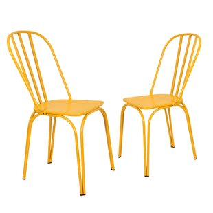 Custinne Stackable Hollow Back Dining Chair (Set of 2)