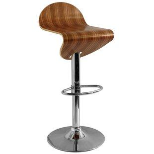 Safira Swivel Adjustable Bar Stool By George Oliver