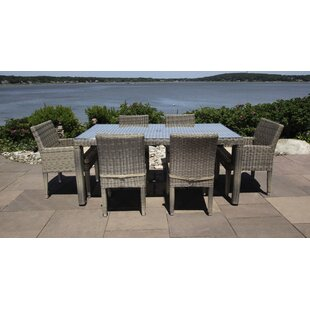 Corsica 7 Piece Dining Set with Cushions