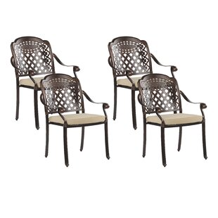 Frame Stacking Garden Chair With Cushion (Set Of 4) By Astoria Grand