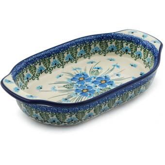 The Holiday Aisle Rowen 2 61 Qt Stoneware Rectangular Pottery Baking Dish Wayfair