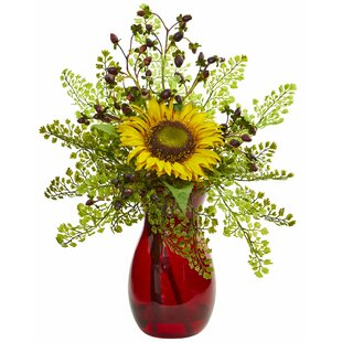 Artificial Sunflower/Mixed Floral Arrangements and Centerpieces in Vase