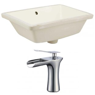 Searching for Ceramic Rectangular Undermount Bathroom Sink with Faucet and Overflow ByAmerican Imaginations
