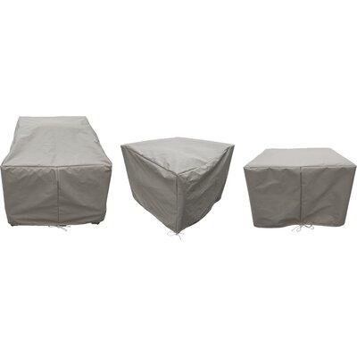 Sol 72 Outdoor Waterbury 7 Piece Patio Furniture Cover Set Size: 30 H x 35 W x 35 D, Color: Beige