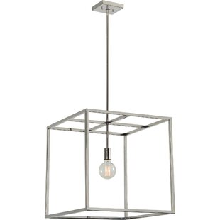Monterrey Stainless Steel Ceiling Fixture 1-Light Square Pendant by Brayden Studio