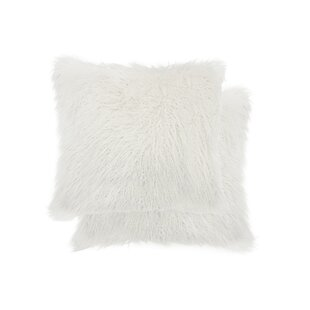 Frisco Faux Fur Throw Pillow (Set of 2)