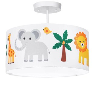 Cheltenham Jungle Animals 3-Light Semi Flush Mount by Harriet Bee