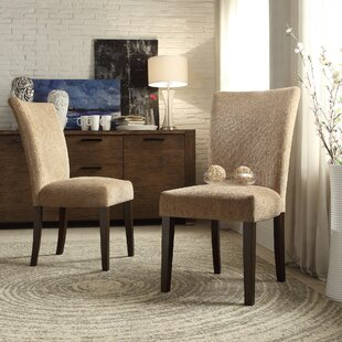 Doerr Chenille Parson Chair (Set of 2) Charlton Home