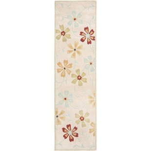Inexpensive Elias Floral Design Beige / Multi Contemporary Rug By Winston Porter