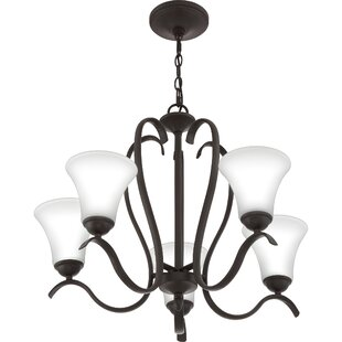 Charlton Home Newfane 5-Light Shaded Chandelier