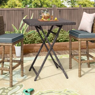 Will Outdoor Wicker Bistro Table by Latitude Run Spacial Price