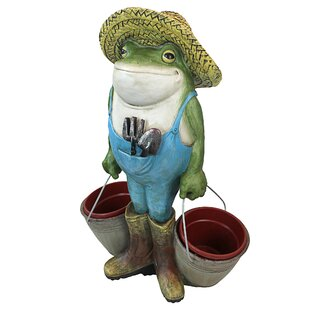 Buckets The Garden Frog Statue