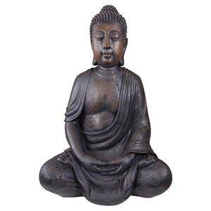 large meditative buddha of the grand temple garden statue