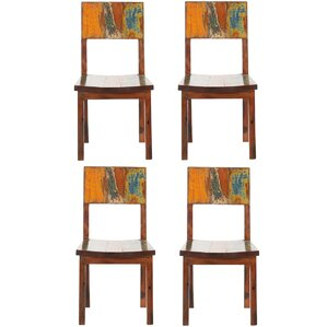 Anna Reclaimed Boat Solid Wood Dining Chair (Set of 4) by Bloomsbury Market