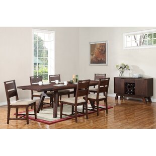Damiani 7 Piece Extendable Solid Wood Dining Set
