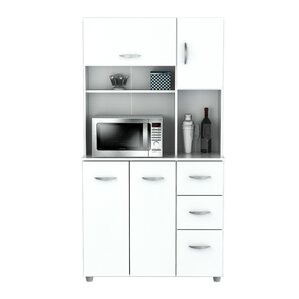 White Kitchen Pantry pantry cabinets you'll love | wayfair