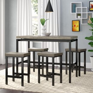 Beveridge 5 Piece Dining Set Wrought Studio