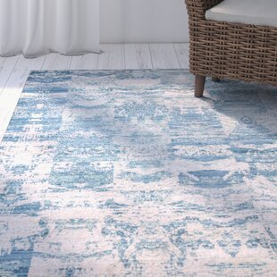Read Reviews Bryne Blue/White Area Rug By Highland Dunes