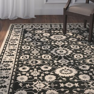 Beasley Creme/Black Indoor/Outdoor Area Rug