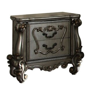 Swanigan Wooden 2 Drawer Nightstand