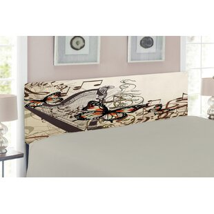 Musical Butterflies Upholstered Panel Headboard by East Urban Home