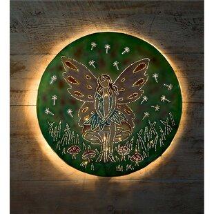 Christmas lighted wall art wayfair fairy on mushroom lighted wall dcor aloadofball Images