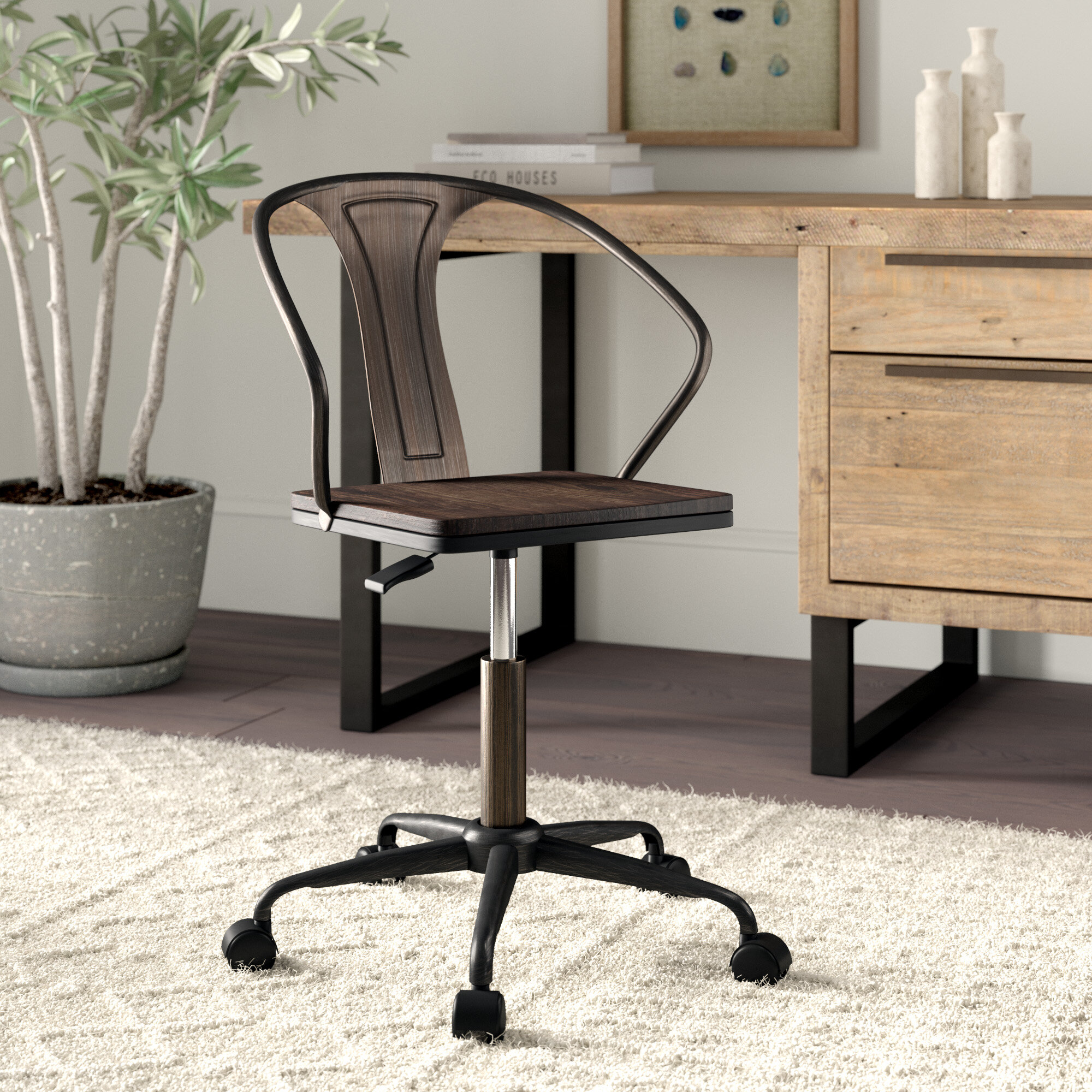 Greyleigh aledo industrial office chair reviews wayfair
