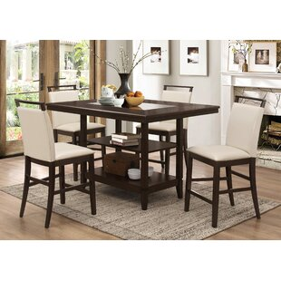 Incroyable Tarra 5 Piece Counter Height Dining Set