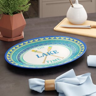 Asuncion On Lake Time Melamine Oval Platter