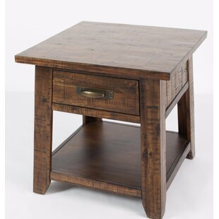 Compare prices Athol End Table with Storage by Three Posts