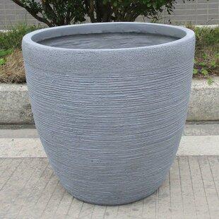 Ribbed Fibreglass Plant Pot Image