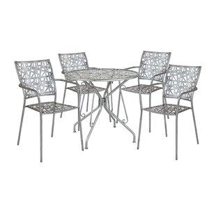 Frias Round 5 Piece Dining Set by Ebern Designs