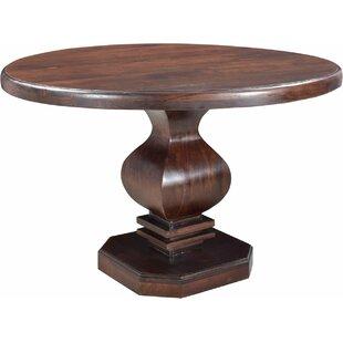 Maliyah Pedestal Solid Wood Dining Table ..
