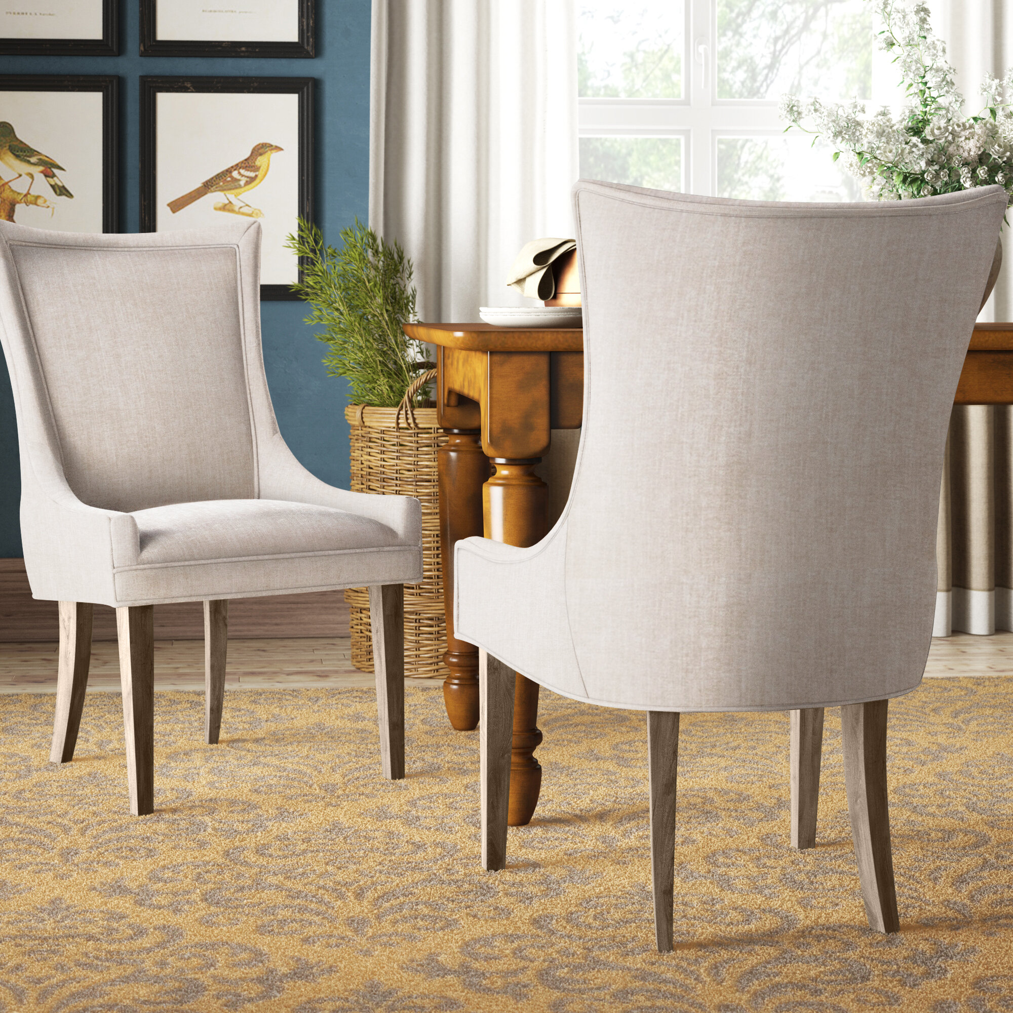 Ultra Upholstered Solid Back Side Chair Reviews Birch Lane