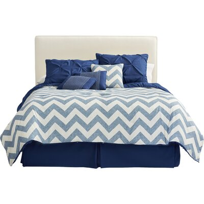House of Hampton Germain Reversible Comforter Set Color: Navy, Size: Twin Comforter + 6 Additional Pieces