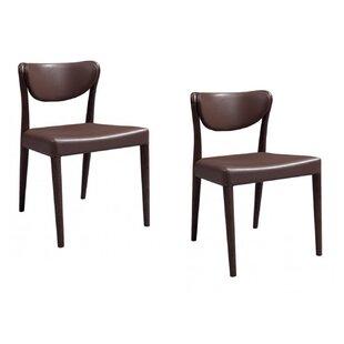 Yesenia Oak Upholstered Dining Chair (Set of 2)