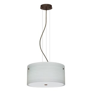 Besa Lighting Tamburo 3 Light Drum Pendant