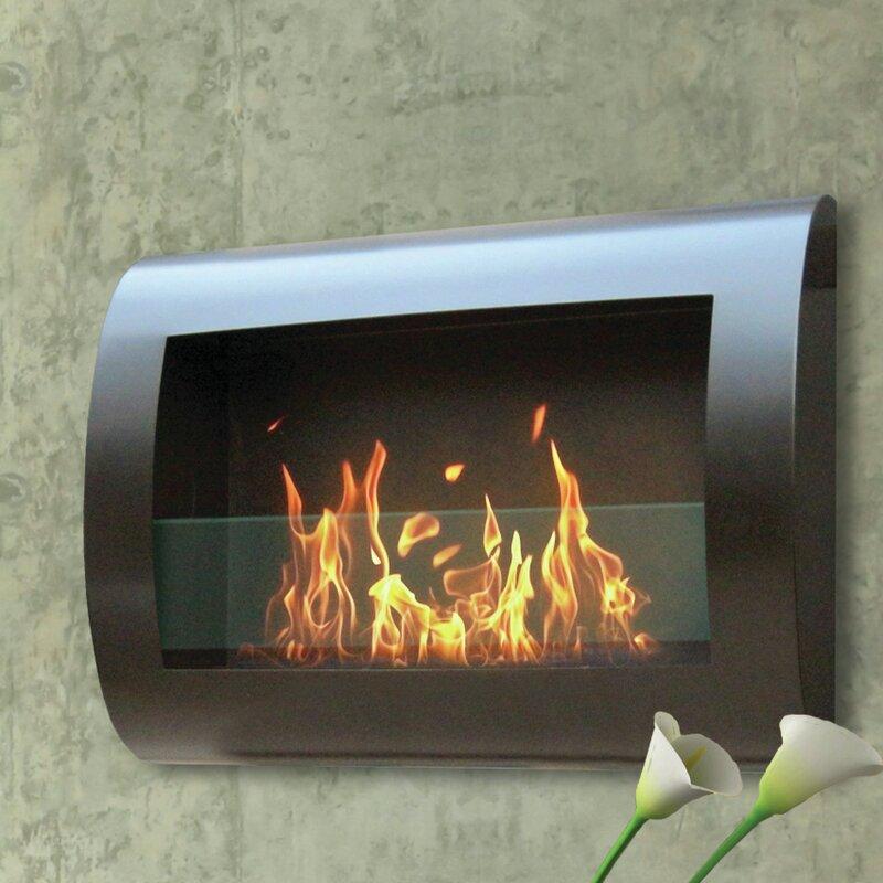 Crafton Wall Mounted Bio Ethanol Fireplace Allmodern