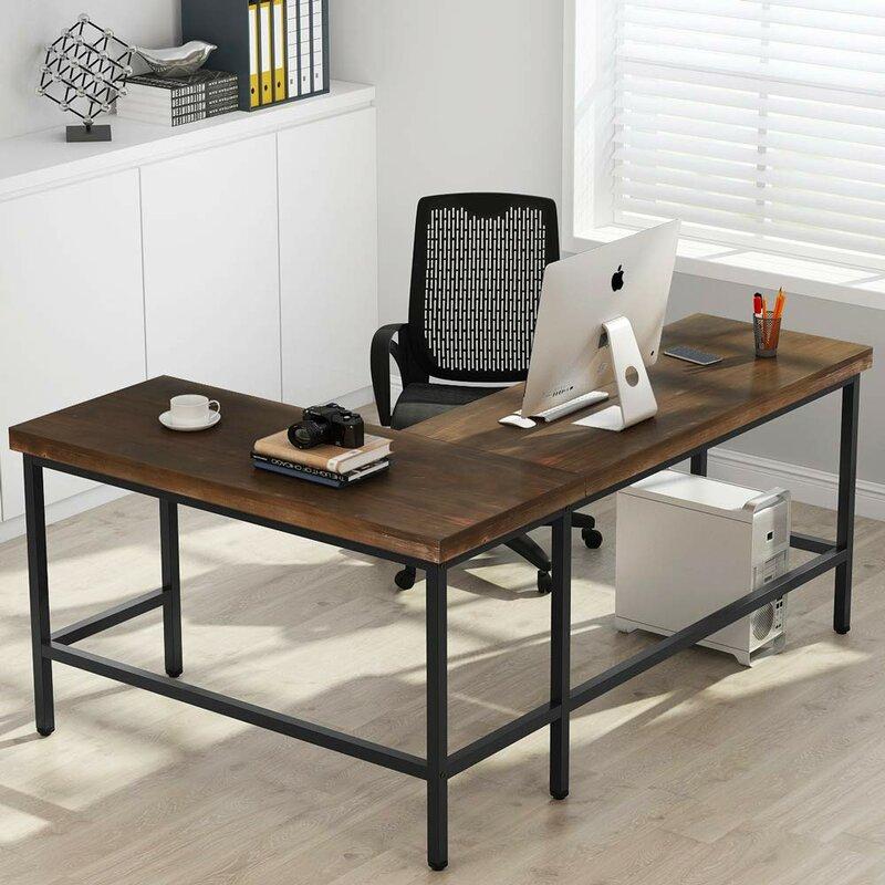 Williston Forge Marcum Solid Wood L Shape Desk Amp Reviews