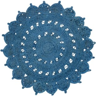 Timms Hand-Woven Blue Area Rug